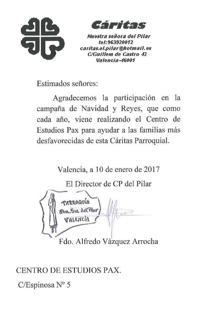 carta agradecimiento Cáritas-001