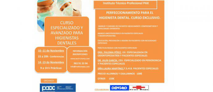 PERFECCIONAMIENTO PARA EL HIGIENISTA DENTAL. CURSO EXCLUSIVO