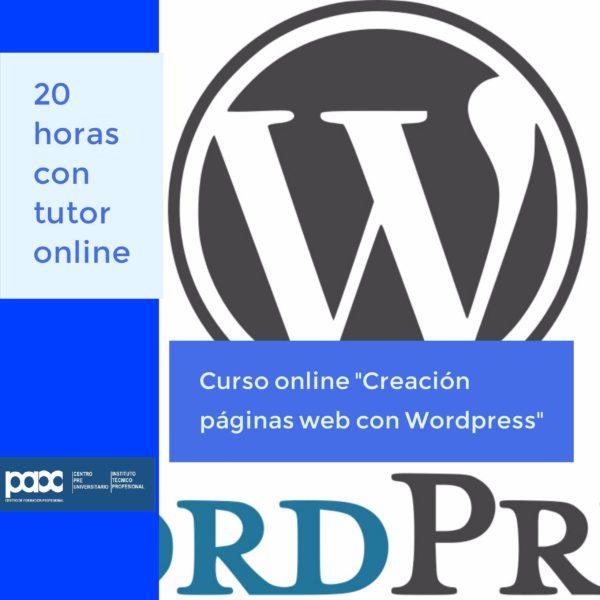 curso wordpress online con logo