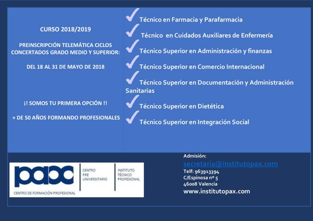matriculate ciclos concertados 2018-2019-001