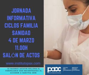 JORNADA FORMATIVA CICLOS FAMILIA SANIDAD