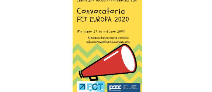 BECAS FCT EUROPA 2020 -APERTURA PLAZO SOLICITUD -