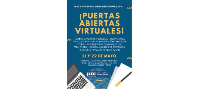 PUERTAS ABIERTAS VIRTUALES -CICLOS CONCERTADOS- 21 Y 22 DE MAYO