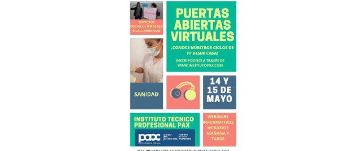 PUERTAS ABIERTAS VIRTUALES -14 Y 15 DE MAYO -