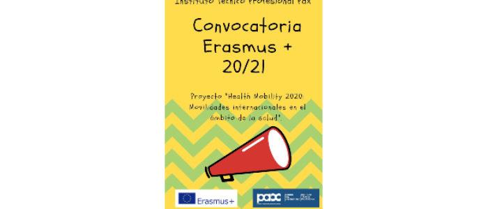 """Nuevo Proyecto ERASMUS + 2020/21 """"Health Mobility 2020: Movilidades internacionales en el ámbito de la salud"""""""
