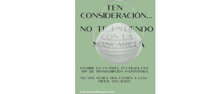 MASCARILLAS Y PÉRDIDA AUDITIVA, CONSEJOS PARA FACILITAR LA COMUNICACIÓN.